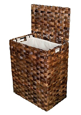 Darby Home Co Abaca Weave Wicker Laundry Hamper