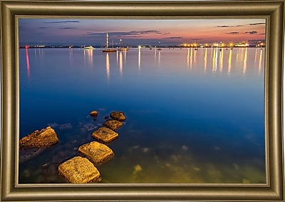 Ebern Designs 'They Call it Magic Hour' Photographic Print; Bistro Gold Framed Paper