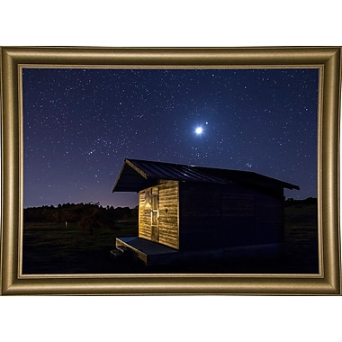 Ebern Designs 'Sun or Moon' Photographic Print; Bistro Gold Framed Paper