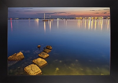 Ebern Designs 'They Call it Magic Hour' Photographic Print; Black Wood Large Framed Paper