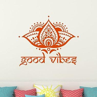 Decal House Lotus Good Vibes Wall Decal; Orange
