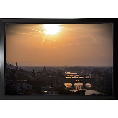 Ebern Designs 'The Golden Hour' Photographic Print; Black Plastic Framed Paper