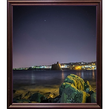 Ebern Designs 'Castle' Photographic Print; Cherry Wood Grande Framed Paper