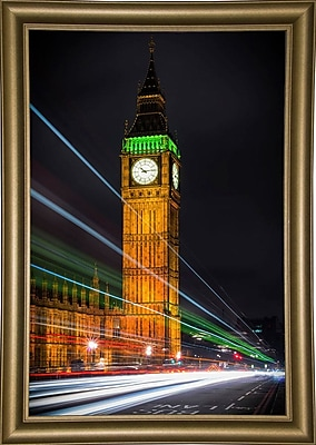 Ebern Designs 'Streams Over Westminster' Photographic Print; Bistro Gold Framed Paper
