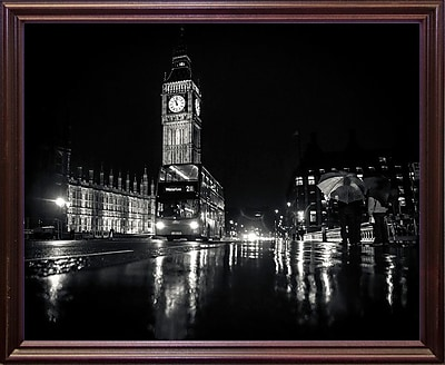 Ebern Designs '30 Aprile' Photographic Print; Cherry Wood Grande Framed Paper