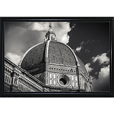 Ebern Designs 'The Big Dome' Photographic Print; Black Metal Flat Framed Paper