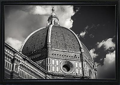 Ebern Designs 'The Big Dome' Photographic Print; Black Metal Flat Framed Paper