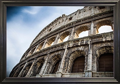 Ebern Designs 'Colosseo' Photographic Print; Black Wood Grande Framed Paper