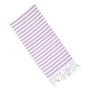 Latitude Run Striped Cotton Hand Towel; Lilac