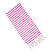 Latitude Run Striped Cotton Hand Towel; Pink