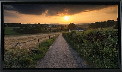 East Urban Home 'Road to Sunset Valley' Photographic Print; Black Metal Framed Paper