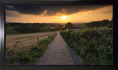 East Urban Home 'Road to Sunset Valley' Photographic Print; Black Plastic Framed Paper