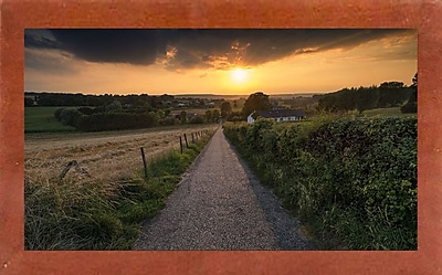 East Urban Home 'Road to Sunset Valley' Photographic Print; Canadian Walnut Wood Medium Framed Paper