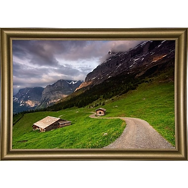 East Urban Home 'Under the Clouds' Photographic Print; Bistro Gold Framed Paper