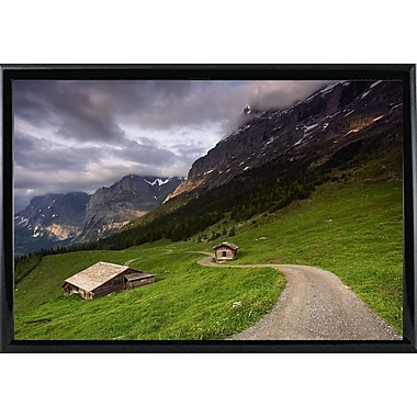 East Urban Home 'Under the Clouds' Photographic Print; Black Metal Framed Paper