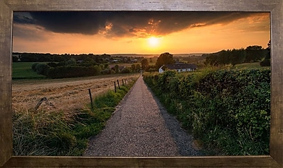 East Urban Home 'Road to Sunset Valley' Photographic Print; Cafe Mocha Framed Paper