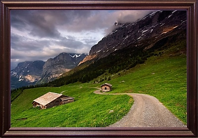 East Urban Home 'Under the Clouds' Photographic Print; Cherry Wood Grande Framed Paper