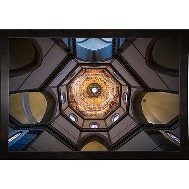 East Urban Home 'Under the Brunelleschi's Dome' Photographic Print; Black Wood Medium Framed Paper