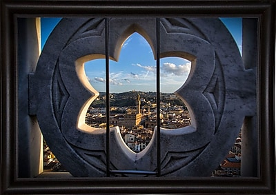 East Urban Home 'Over the Tower' Photographic Print; Bistro Expresso Framed Paper