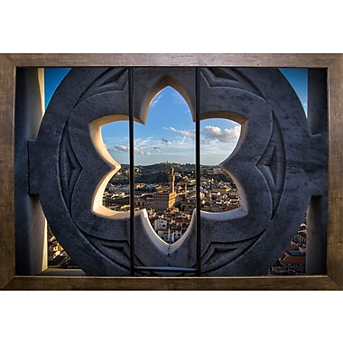 East Urban Home 'Over the Tower' Photographic Print; Cafe Mocha Framed Paper