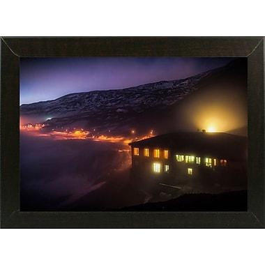 East Urban Home 'Under the Cloud' Photographic Print; Brazilian Walnut Wood Medium Framed Paper