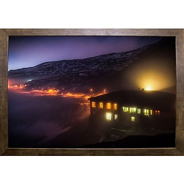East Urban Home 'Under the Cloud' Photographic Print; Cafe Mocha Framed Paper