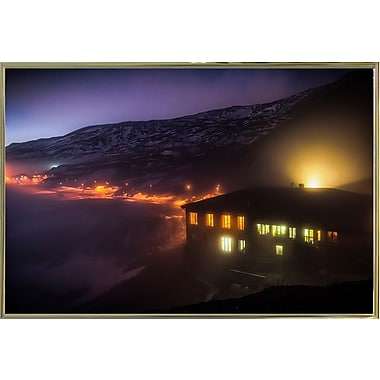 East Urban Home 'Under the Cloud' Photographic Print; Gold Metal Framed Paper