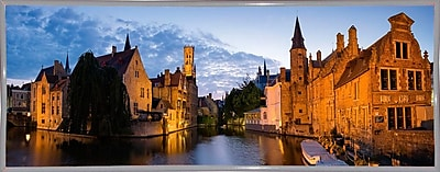 East Urban Home 'Panorama Brugge' Photographic Print; White Metal Framed Paper