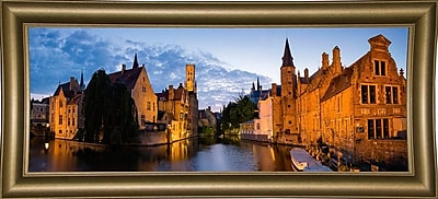 East Urban Home 'Panorama Brugge' Photographic Print; Bistro Gold Framed Paper