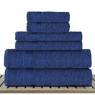 Red Barrel Studio Caudill 6 Piece Rayon from Bamboo Towel Set; Navy Blue