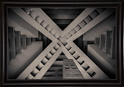 Orren Ellis 'Inside the Pyramid' Photographic Print; Bistro Expresso Framed Paper