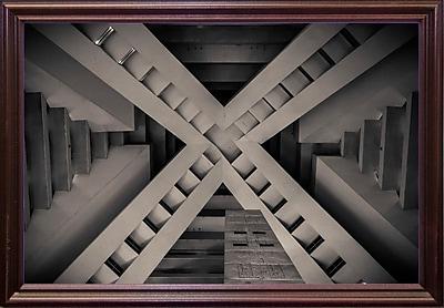 Orren Ellis 'Inside the Pyramid' Photographic Print; Cherry Wood Grande Framed Paper