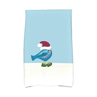 The Holiday Aisle Merry Christmas Bird Hand Towel; Teal