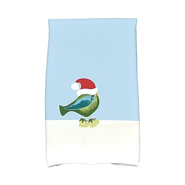 The Holiday Aisle Merry Christmas Bird Hand Towel; Green