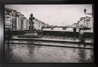 Winston Porter 'It's Raining' Photographic Print; Black Plastic Framed Paper