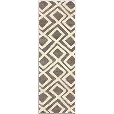 Ebern Designs Darroll Flagstone Gray Area Rug; 2'7'' x 8'