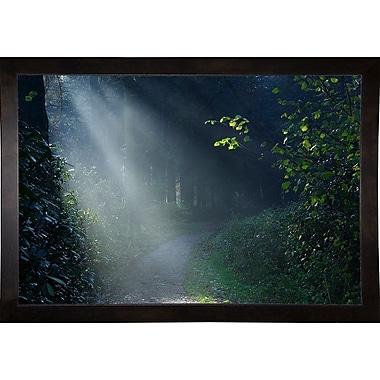 Winston Porter 'Beam of Light' Photographic Print; Cafe Espresso Wood Framed Paper