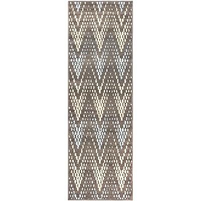 Varick Gallery Vergara Arete Slate Area Rug; 2'7'' x 8'
