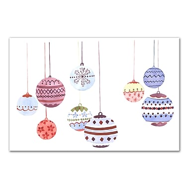 Ivy Bronx 'Hanging Ornaments' Watercolor Painting Print on Canvas
