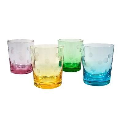 Ivy Bronx Brumit Polka Dot 12 Oz. DOF Glass (Set of 4)