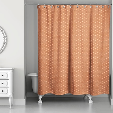 Latitude Run Shortwood Polka Dots Shower Curtain