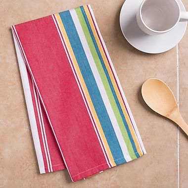 Ivy Bronx Striped Cotton Kitchen Towel (Set of 2)