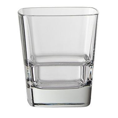 Latitude Run Siems 12 oz. Square Shape Double Old Fashioned Glass (Set of 4)