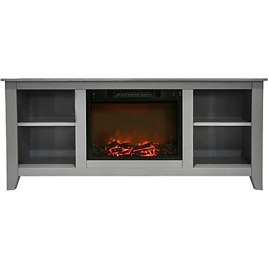 Alcott Hill Brook Hollow Electric Fireplace; Gray