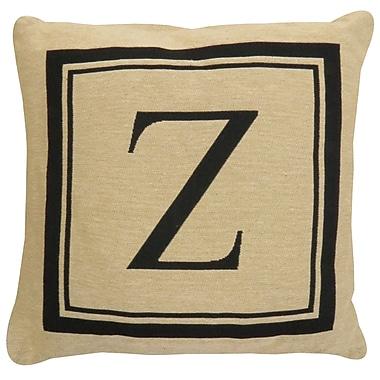 Alcott Hill Beaver Creek Monogram Throw Pillow; Z