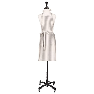 Alcott Hill Cotton Shimmer Apron; Silver