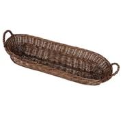 Alcott Hill Bardolph Willow Bread Basket; Dark Brown