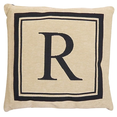 Alcott Hill Beaver Creek Monogram Throw Pillow; R