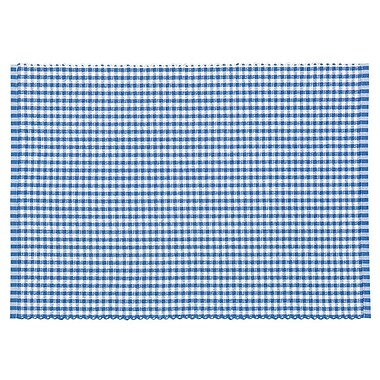 August Grove Gaye Gingham Woven Placemat (Set of 4); Nordic Blue