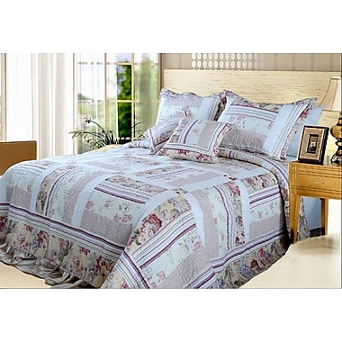August Grove Cheddington Blossoming Cotton Patchwork Bedspread; King